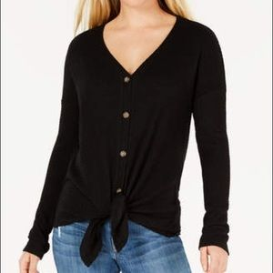 Wild Fable Waffle Knit Thermal Button Down